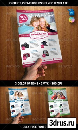 Product Promotion PSD Flyer Template