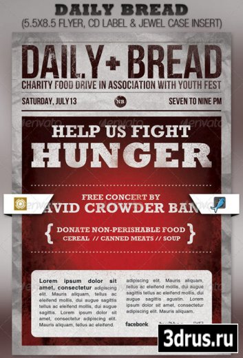 Daily Bread Church Flyer and CD Template