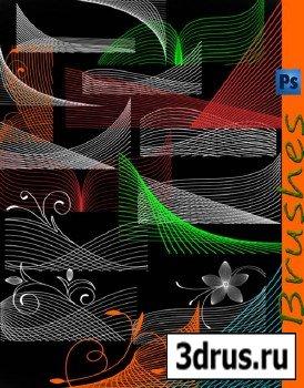 Кисти для фотошопа -Закрученные линии