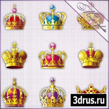 Многослойный исходник PSD - Короны царские