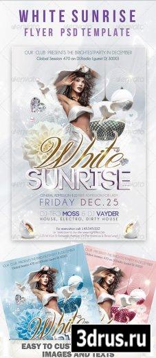 White Sunrise Flyer PSD Template