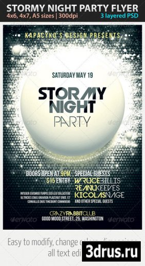 Stormy Night Party Flyer