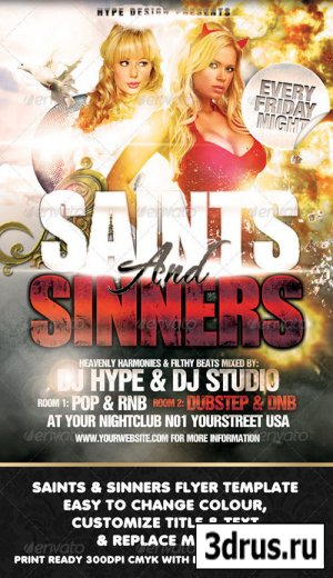 Saints & Sinners Flyer Template