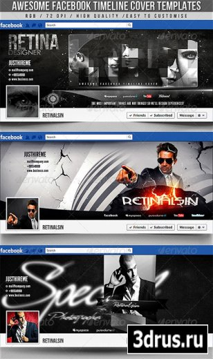 Facebook Timeline Covers – 3in1