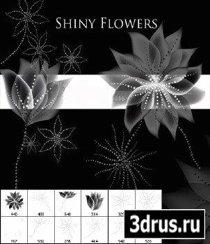 Кисти блестящие цветы