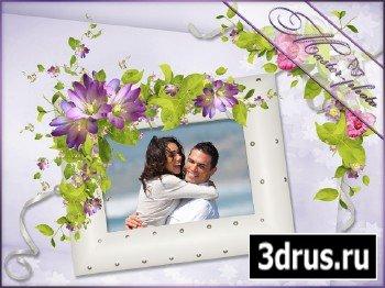 Романтическая рамка для фотошопа - Летние чувства