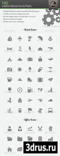 140 Useful Various Icons