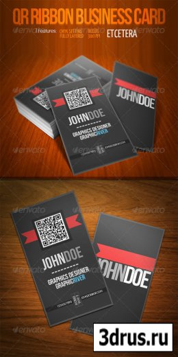 QR Ribbon Business Card