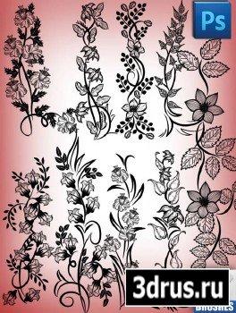 Дизайнерские кисти - Цветочный орнамент