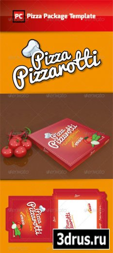 Pizza Package Template Vector