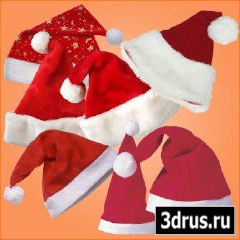 Клипарт - Новогодние шляпы