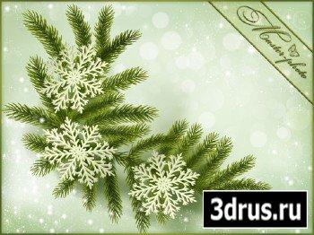 PSD исходник для фотошопа - Холодная метель
