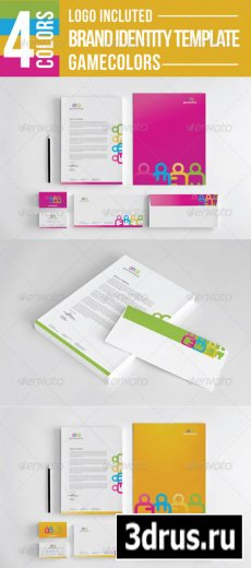 Game Colors Stationery