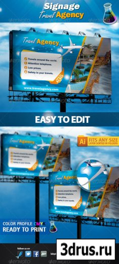 Signage Travel Agency