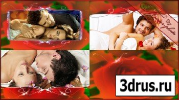 Футажей набор романтический - Букет красных роз