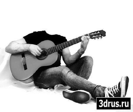 Мужской шаблон - на гитаре