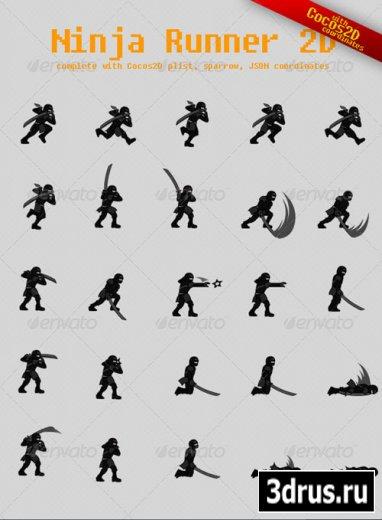 Ninja Runner Sprite Sheet with Cocos2D Coordinates