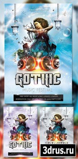 Gothic Music Flyer
