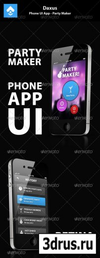 Phone UI App – Party Maker