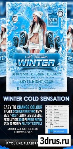 Winter Cold Sensation Flyer Template