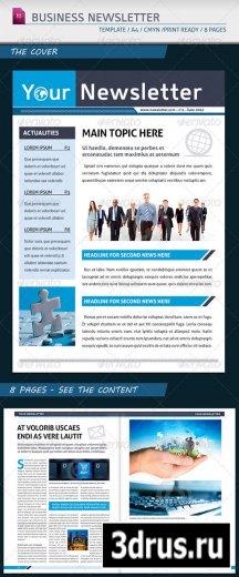 Modern Business Newsletter Template A4