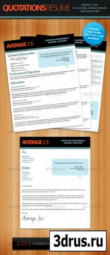 Quotations Resume + Cover Letter
