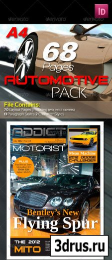 68 Pages Automotive Magazine Pack