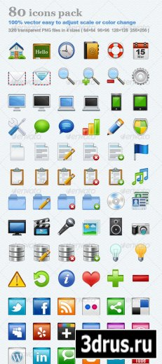 80 icons pack