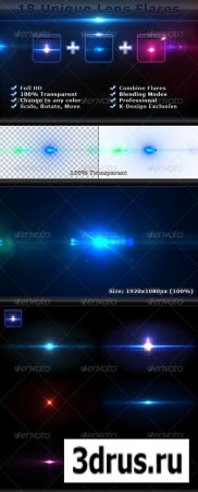 18 Unique Lens Flares – Light Effects Bundle 4-6